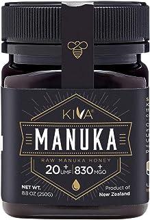 Kiva Certified UMF 20+, Raw Manuka Honey - New Zealand (8.8 oz / 250g)