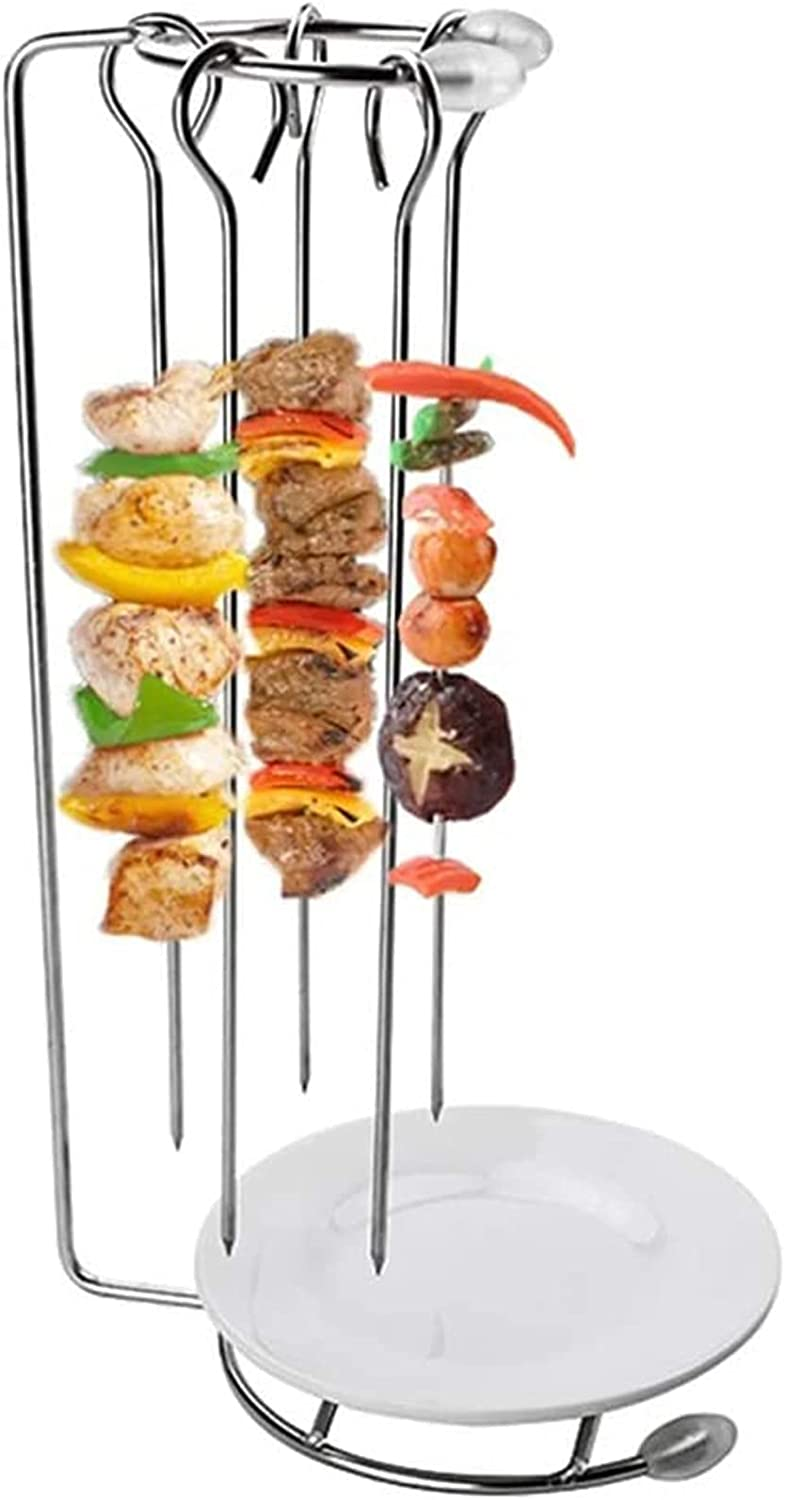 Chicago Mall 1 Set Stainless Steel BBQ Skewers Hanger and Kebab Hanging Same day shipping Rack