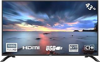HKC 43F1 LED-tv van 109 cm (43 inch) (Full HD, Triple Tuner (DVB-C / -T2 / -S2), CI +, HDMI, mediaspeler via USB 2.0)