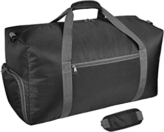 25 inch Foldable Travel Duffle Bag 65L with Shoes Compartment for Luggage Gym Sports Camping Travelling with Water & Tear Resistant