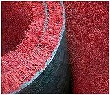 emmevi Paillasson en coco naturel rouge antidérapant tapis d'entrée, gaie, dimensions mod. Coco sur mesure rouge 50 x 100 cm