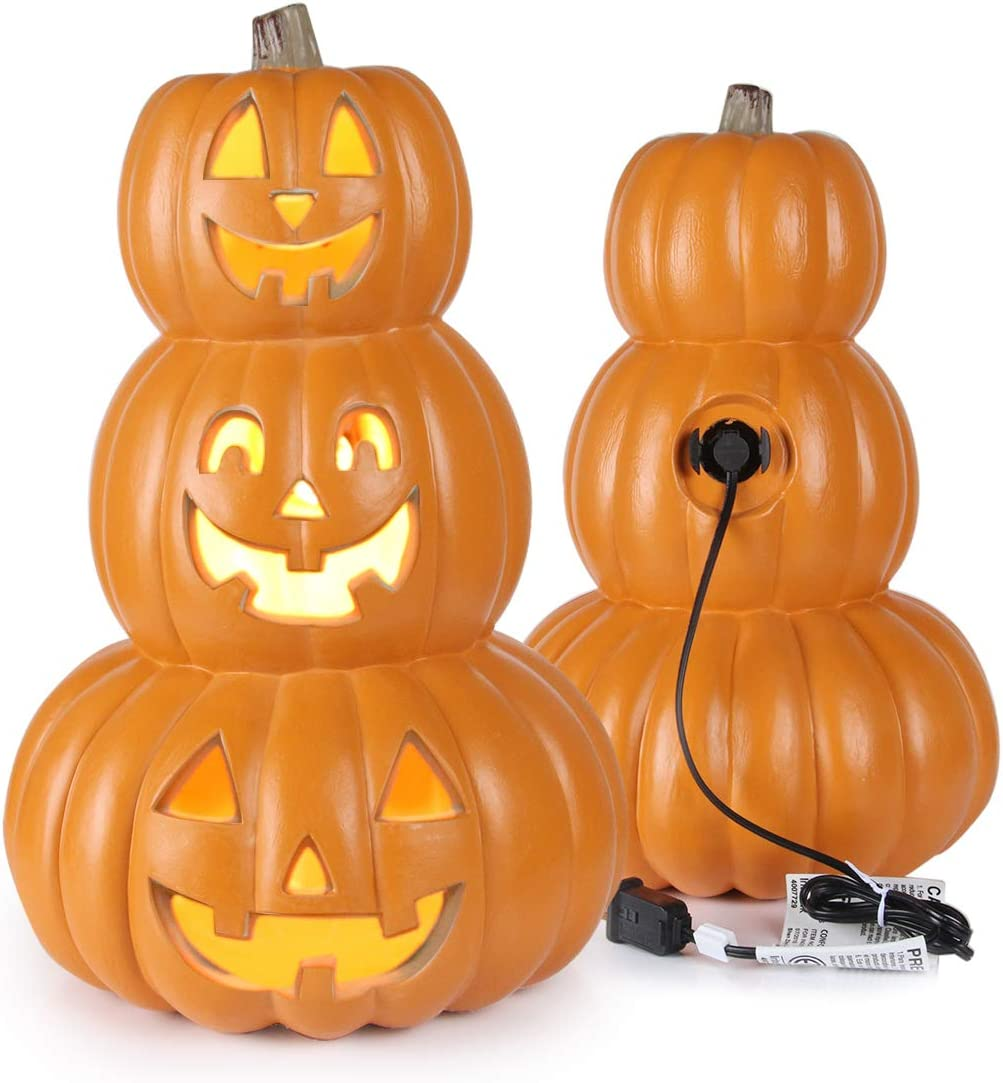 AD Halloween Jack O Lantern Pumpkin NEW before selling ☆ Don't miss the campaign Pre-lit with LED