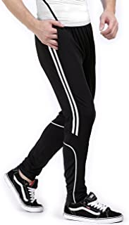 BONWAY Men's Soccer Training Pants Athletic Track Pants Sports Active Pants Running Jogger Pants Fit Trousers