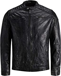 Jack & Jones Men's Jjeliam Leather Jacket Noos