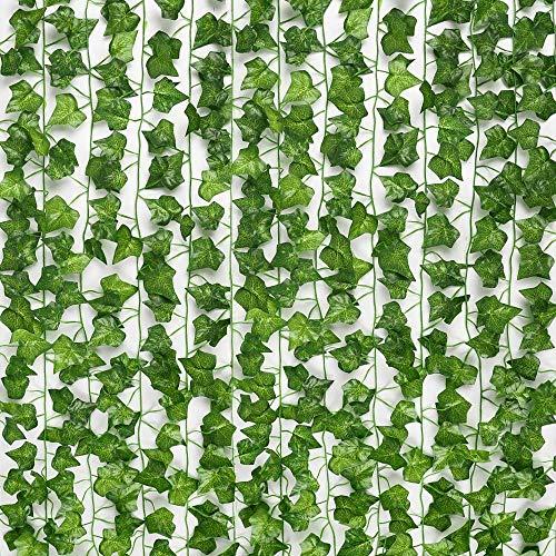 Ariati UK Artificial Ivy Garland,Ivy Garland Fake Ivy UV Resistant Fake Vine Green Leaves Fake Plants Hanging Vine Plant for Wedding Party Garden Wall Decoration 5 Packs
