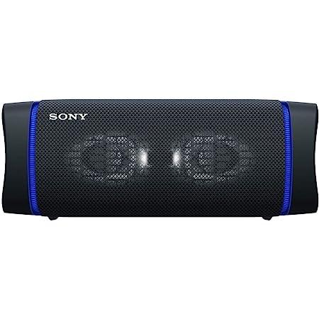 ソニー ワイヤレスポータブルスピーカー SRS-XB33 : 防水/防塵/防錆/Bluetooth/重低音モデル/マイク付き/ライティング機能搭載 / 最大24時間連続再生 2020年モデル / ブラック SRS-XB33 B