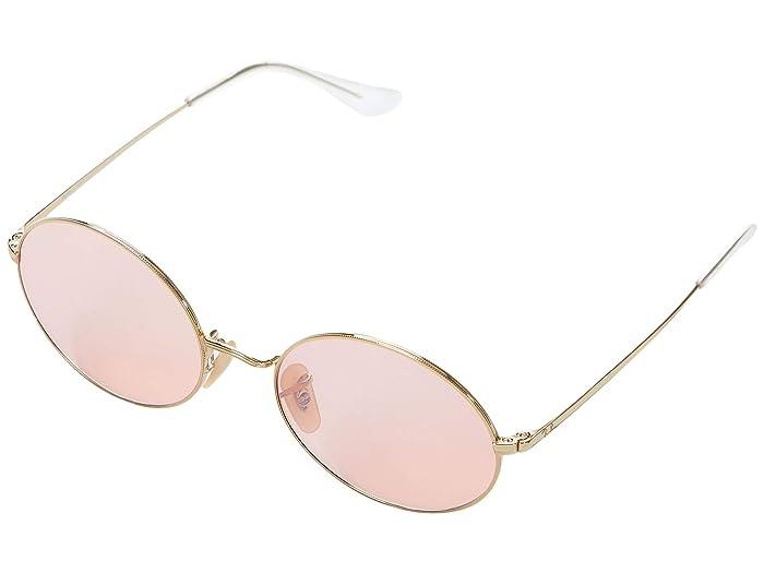 1960s Sunglasses | 70s Sunglasses, 70s Glasses Ray-Ban 54 mm RB1970 Oval Metal Sunglasses Shiny GoldPhotochromic Pink Mirror Grey Fashion Sunglasses $149.00 AT vintagedancer.com