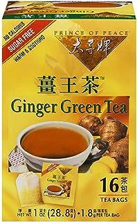 Prince of Peace Ginger Green Tea, 16 Tea Bags – Chinese Tea Bags – Green & Ginger Tea Bags – Prince of Peace – Herbal Tea ...