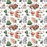 Pingianer 11,99€/m Tiere Wald 100% Baumwolle