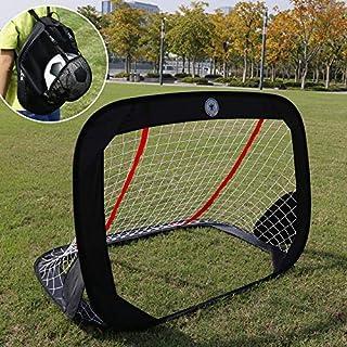 WISHOME 47.3� Folding Pop-Up Goal Collapsible Children Soccer Goals for Backyard Football Gate Soccer Net for Kids Outdoor Sport Toys Ideal Gift for Children
