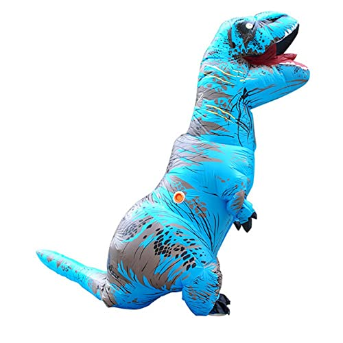 Bow Dragon Costume Dinosaur Inflatable Costume Colorful Adult T-Rex Costume