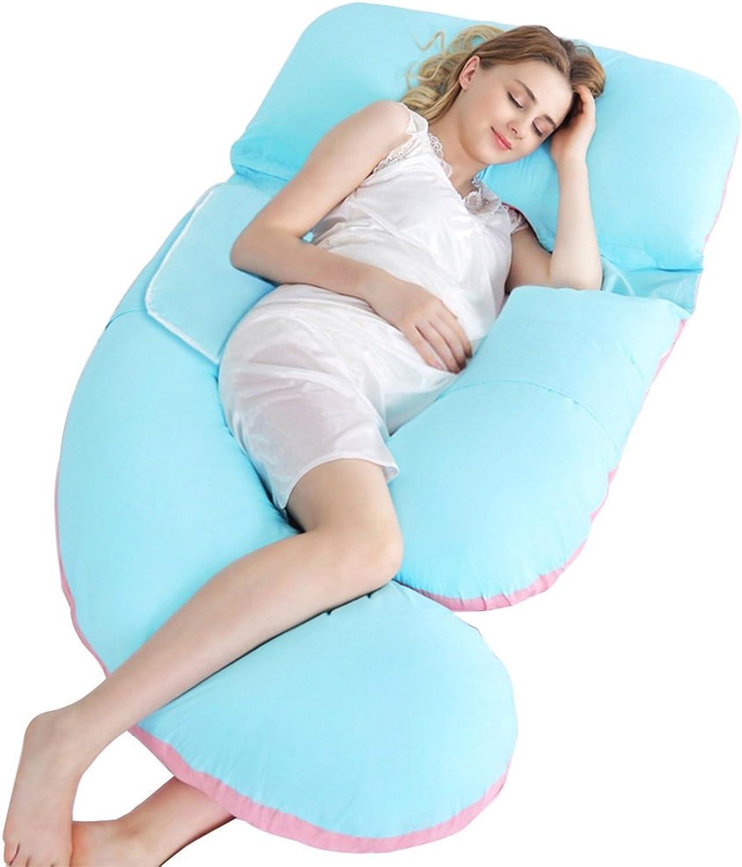 LSX Coussin de grossesse complet pour le corps - Multifonctionnel U Oreiller Oreiller Waistguard pour femmes enceintes oreiller