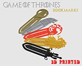3D Cauldron Game of Thrones House Bookmarks (Set of 5)