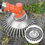 TONGXU Cepillo Redondo para Desbrozadoras de 6 Pulgadas Disco para Desbrozadora Cortadora de Césped Herramientas de Limpieza de Malezas para Cuidado de Jardín