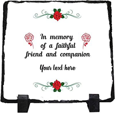 Amazon.com: Custom Home Decor Stone Slate Plaque Memorial ...