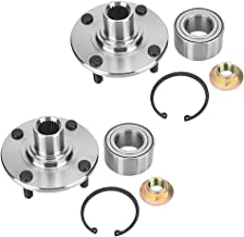 Front Hub Bearing, 2pcs Wheel Hub Assembly Replacement 518510 for Ford Focus 2000-2011