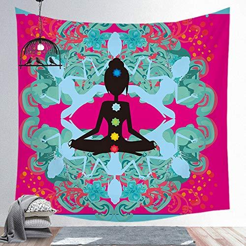 KHKJ Tapiz de Mandala Indio, Colcha de Yoga, Colcha Hippie, decoración del hogar, Colgante de Pared, Tapiz de Toalla de Playa Bohemia, A1 200x150cm