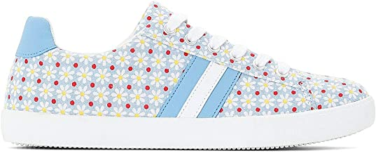 La Redoute Collection Womens Floral Print Canvas Trainers