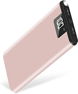 モバイルバッテリー 大容量 24000mah 2入力(iPhone+Android) PSE認証 2.1A出力 急速持ち運び充電器 LCD残量表示 LEDライト付き 携帯バッテリー 緊急時の必携品 iPhone/Android/あらゆるUSB機器対応