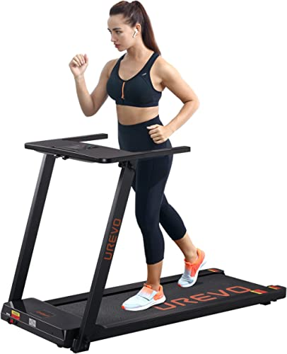 UREVO Foldable Treadmills for Home,Under Desk Electric Treadmill Workout Running Machine,2.5HP Portable Compact Tread...