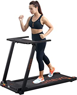 UREVO Foldable Treadmills for Home,Under Desk Electric Treadmill Workout Running Machine,2.5HP Portable Compact Treadmill ...