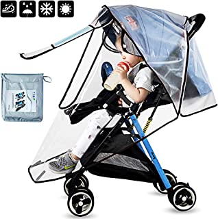 ALLYAOFA Rain Cover for Stroller, Baby Travel Weather Shield Pushchair Universal Raincover Waterproof Weather Shield Windp...