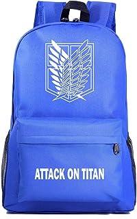 Mochila de Anime Attack on Titan Cosplay Anime Mochila Escolar Estudiantes Mochila para Portátil Backpack Bolsa Casual Bandolera