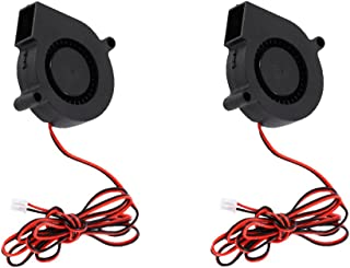 Baosity 2pcs Silent 24V 50mm 5015 Radial Turbo Cooler Blower Fan for PC CPU Cooling