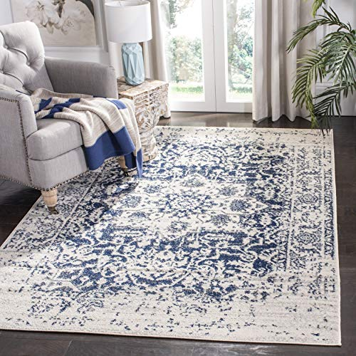 Safavieh Madison Collection MAD603D Oriental Snowflake Medallion Distressed Non-Shedding Stain Resistant Living Room Bedroom Area Rug, 4