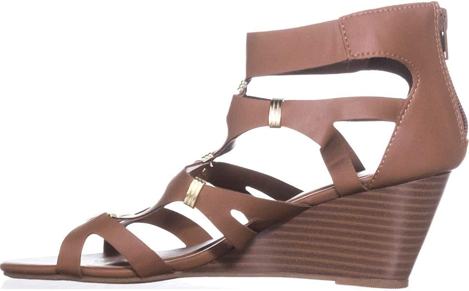 XOXO Womens Sarabeth Open Toe Casual Ankle Strap Sandals Tan 6M