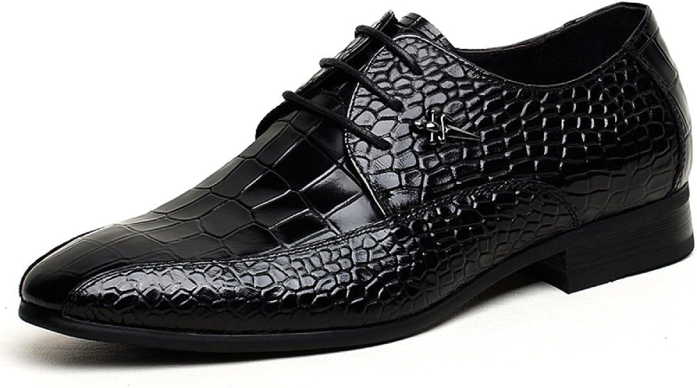LEDLFIE Herrenschuhe Krokodil-Muster Aus Echtem Leder Herren Business Formal Wear Lederschuhe