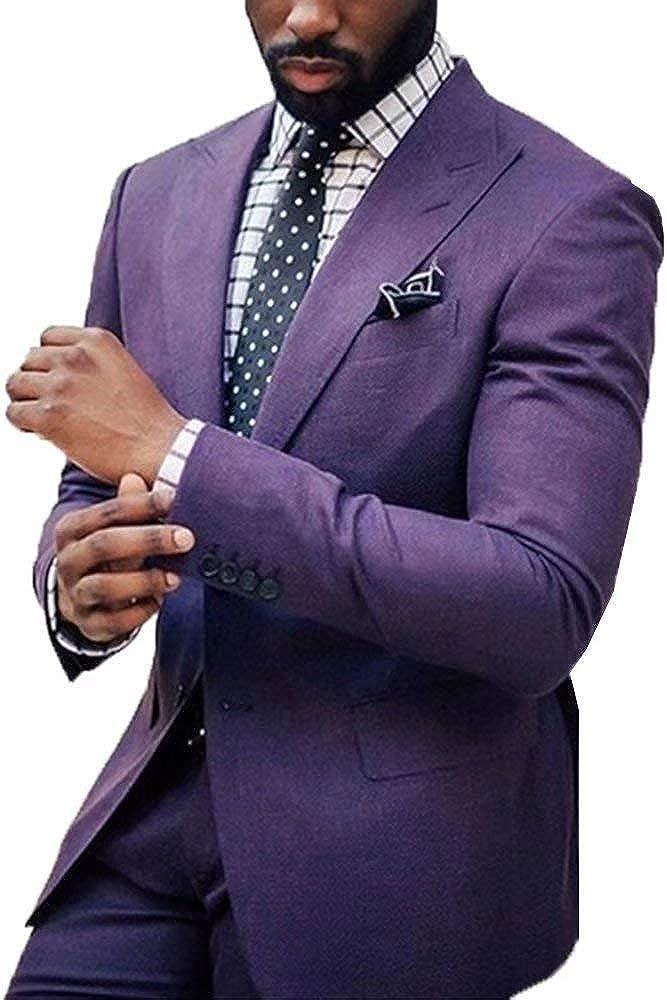 RONGKIM Men's Purple Super sale Men Suits Tuxedos Courier shipping free shipping Wedding Groomsmen Groom D