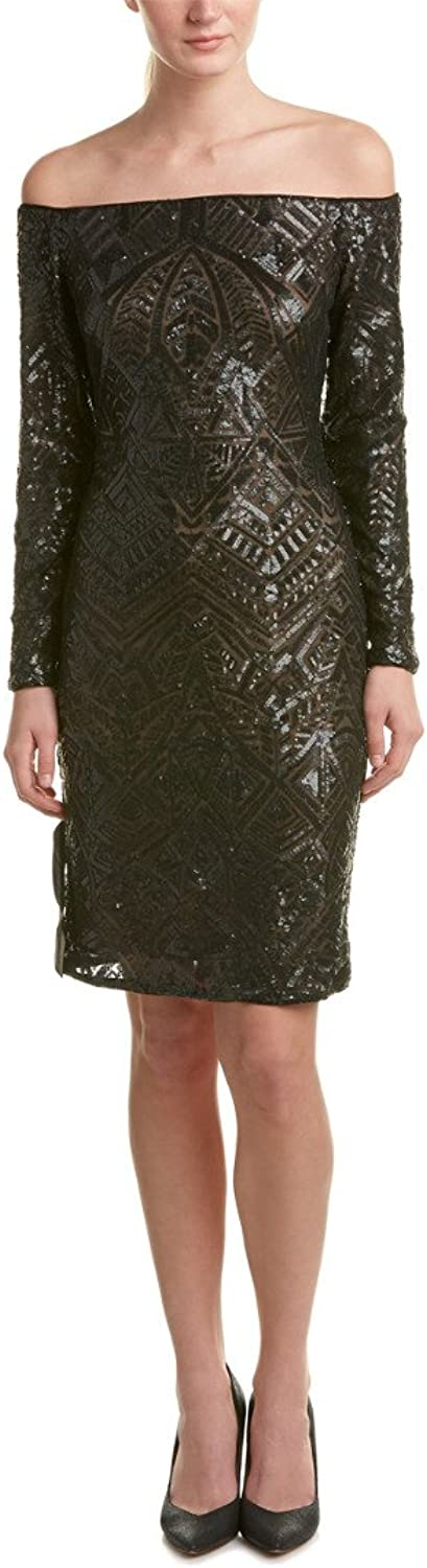 BCBGMAXAZRIA Womens Eunice Knit Evening Dress Dress