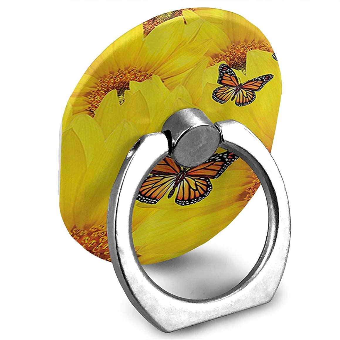 ZYYSLHH Sunflower Flowers ATOP One Another Butterfly Finger Ring Holder, Universal Cell Phone Ring Grip Stand Support for iPhone Android Phone