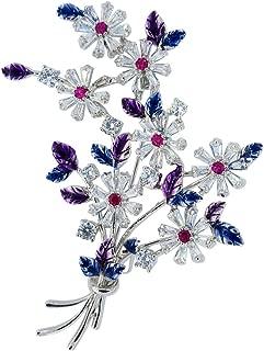 Fashion Brooch for Men Women Flower Bouquet Colorful Blue