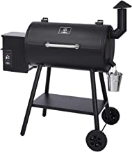 Z GRILLS ZPG-5502H 8 in 1 Wood Pellet Portable Grill Smoker for Outdoor BBQ Cooking with Digital Temperature Control and S...