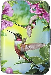 RFID Secure Armored Wallet - Wings, Hummingbird with Purple Flowers
