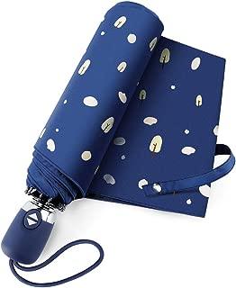 TradMall Travel Umbrella, Lightweight Compact Parasol with 99% UV Protection for Sun & Rain Auto Open & Close, Blue