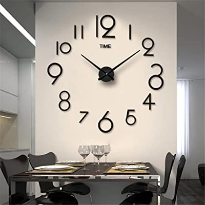 VariousWallClock Wall clock household pendulum clocks Creative stylish acrylic mirror wall sticker clock living room diy
