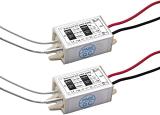 DC 12V LED Power Supply Driver Transformer, Lustaled 15W Waterproof IP67 LED Switching Power Supply for LED Strip Lights, G4, MR11, MR16 LED Light Bulbs (2-Pack)