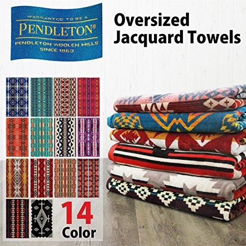 Pendleton ペンドルトン バスタオルブランケット ジャガードバスタオル Oversized Jaquard Towels 大判バスタオル 綿100% ひざ掛け 膝掛け