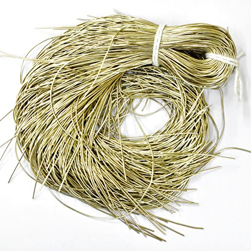 EmbroideryMaterial French Coil Bullion Metallic Wire Dabka for Embroidery,Beading and Jewelry Making, Frost Color, 1MM, 50 Yards(100 Gram)