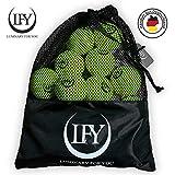 LFY Luminary for you Tennisbälle 15 Stück inklusive Mesh-Tragetasche Tennisbälle perfekt für das Training, Tennis- Unterricht, Freizeitspiele oder als Hundespielzeug