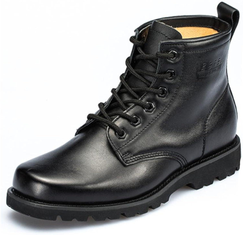 Män Army Ankle Boots Outdoor Outdoor Outdoor skor Autumn Winter Lace svart Special Forces Combat Leather Andable Short Non -Slip  Beställ nu med stor rabatt och gratis leverans