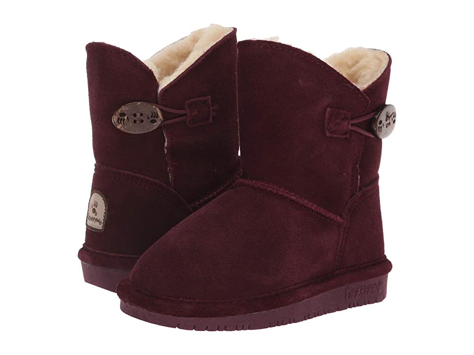 Bearpaw Kids Rosie (Toddler/Little Kid) (Wine) Girls Shoes