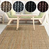 casa pura Natural Jute Rug - Modern Living Room Rug | Natural Fibre