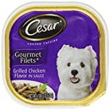 Cesar Canine Cuisine Gourmet Filets In Sauce Grilled Chicken Flavor For Small Dogs, 3.5-Ounce Trays...