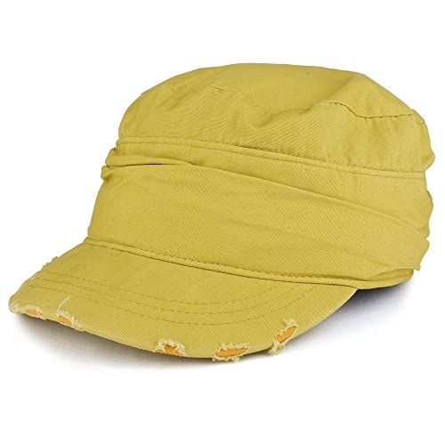 68ff54b4f7449 Vintage Frayed Wrinkled Elastic Band Jeep Style Army Cap