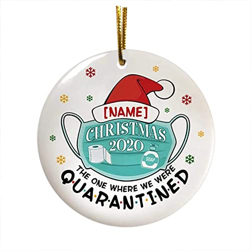 lowest 2020 Christmas Tree Hanging Ornaments, Xmas Tree Decoration, Disc Wooden Ornament Holiday Décor outlet sale - Personalized Christmas Ornament Quarantine high quality Decoration,Double-side Printed Tree Hanging Pendant sale