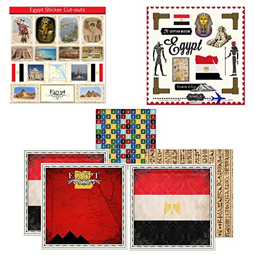 Scrapbook Customs Themed Paper and Stickers Scrapbook Kit, Egypt Sightseeing